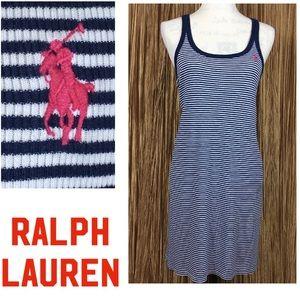 Ralph Lauren Sleeveless Striped knit Dress Size L